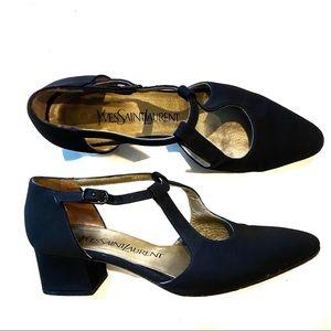 YSL Yves Saint Laurent 90's Vtg Black Heels